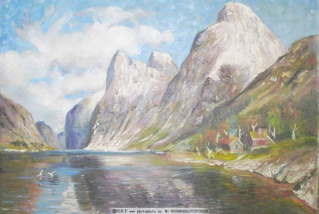 水 绘画书法 文化艺术 设计 314dpi     家居装饰素材 山水风景画